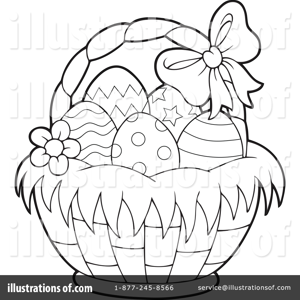 Easter Basket Clipart #1382868.