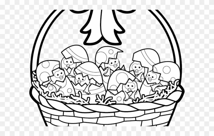 Happy Clipart Easter Basket.