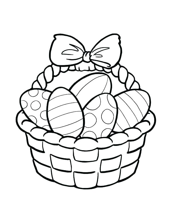 Collection of Easter basket clipart.