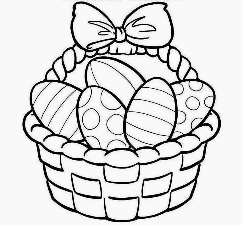 Easter Egg ClipArt Black and White Image.
