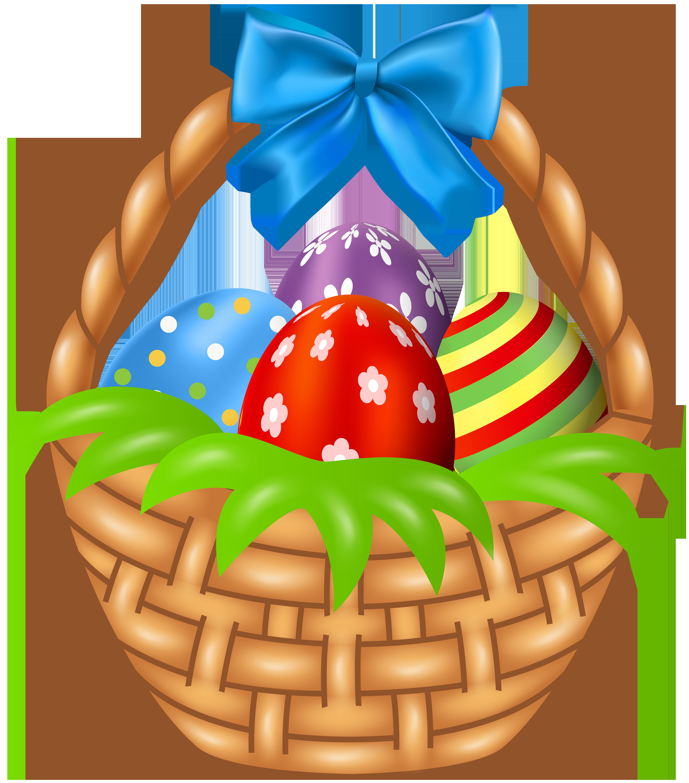 Easter Basket Clip Art Image.