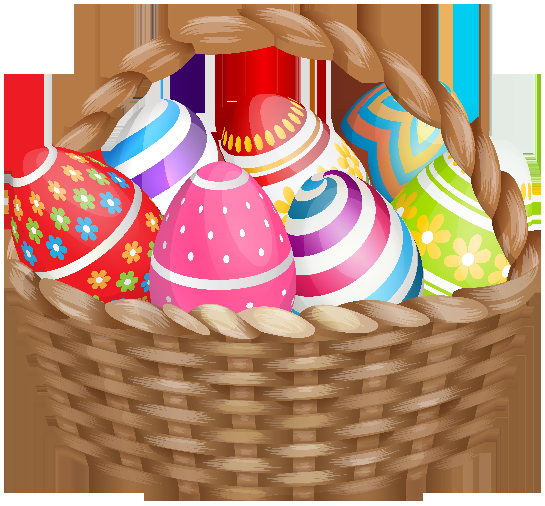 Easter Basket Clipart Image.