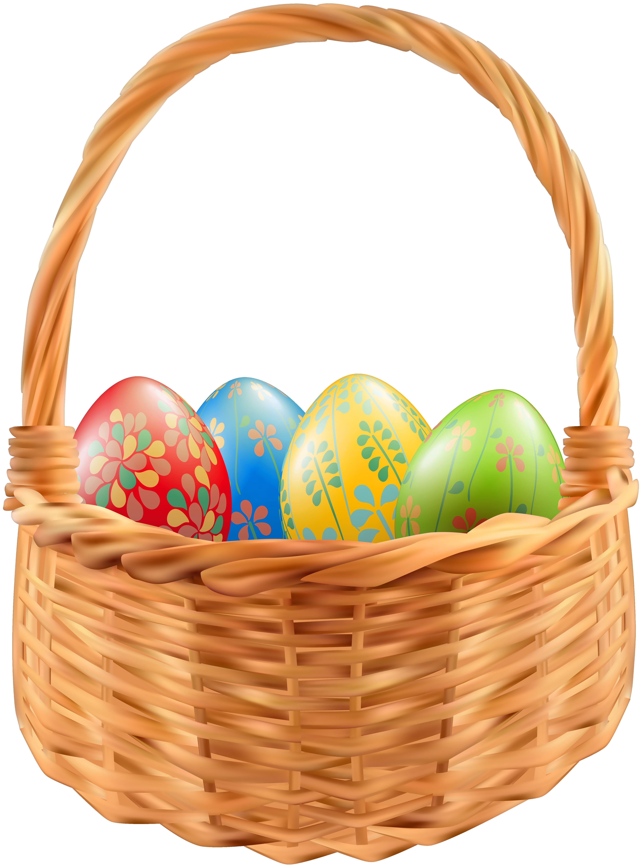 Easter Basket PNG Clip Art Image.