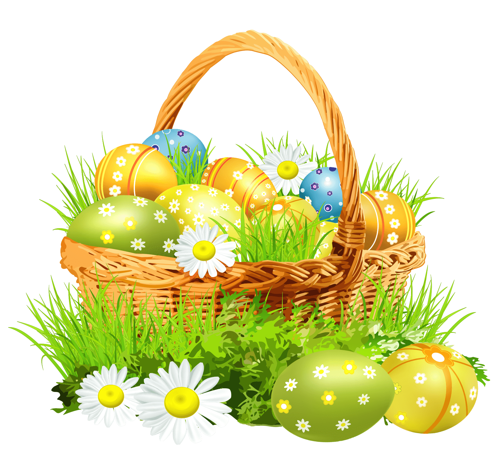 Easter Basket Flowers transparent PNG.