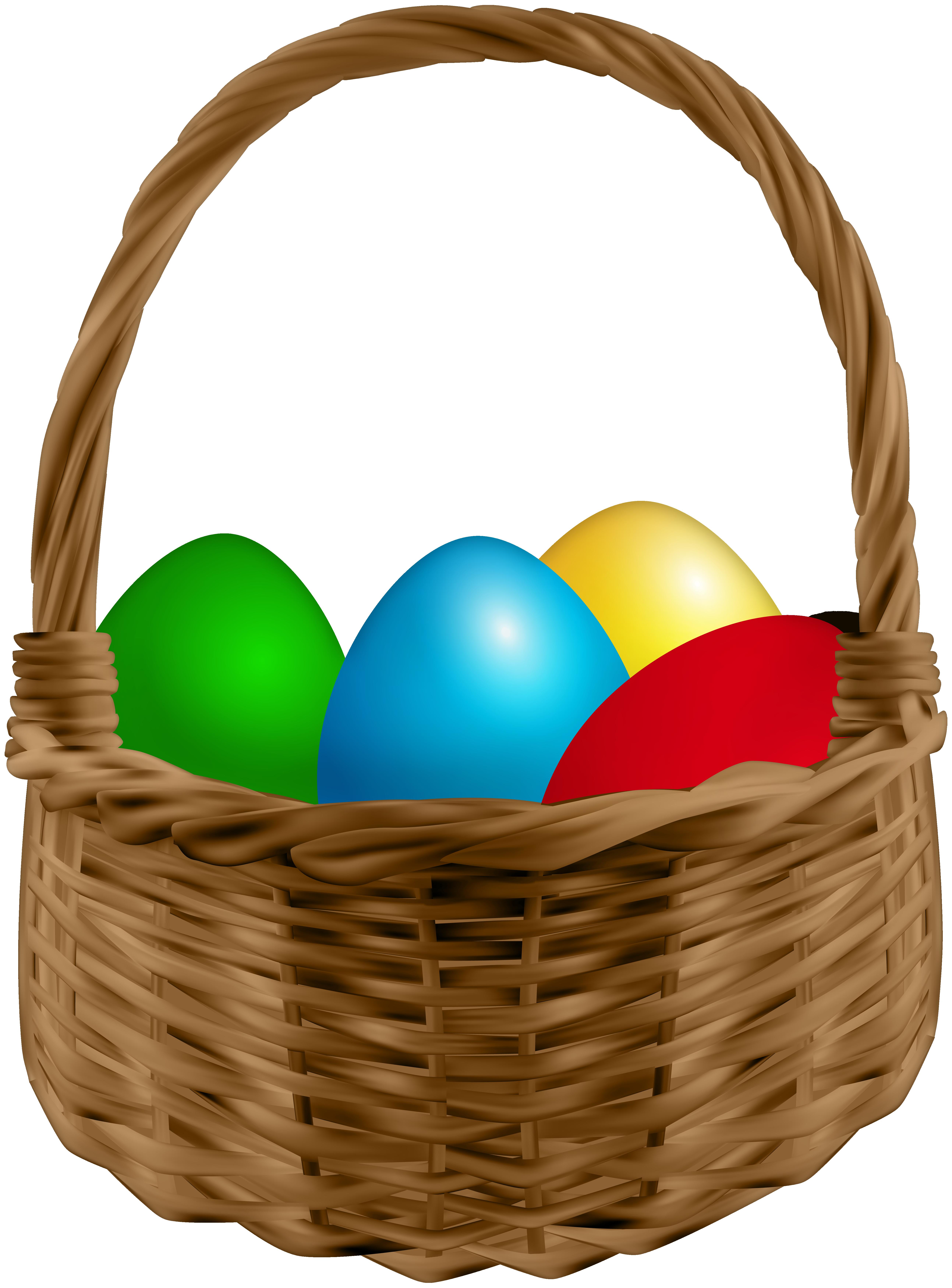 Easter Basket PNG Image.
