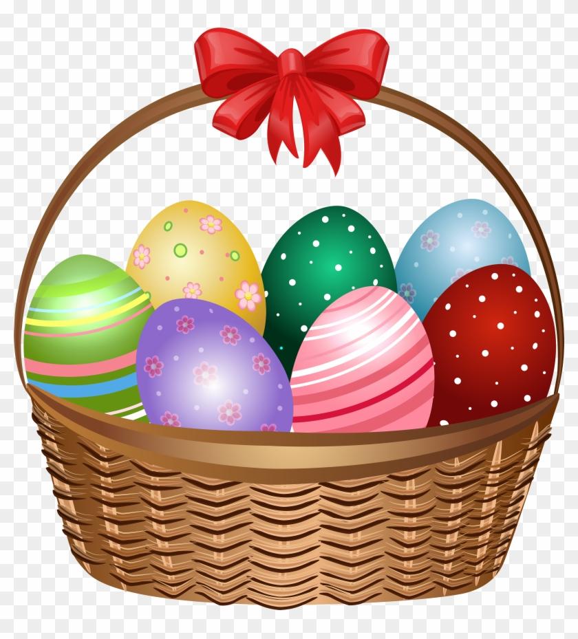 Easter Basket Png Photo.