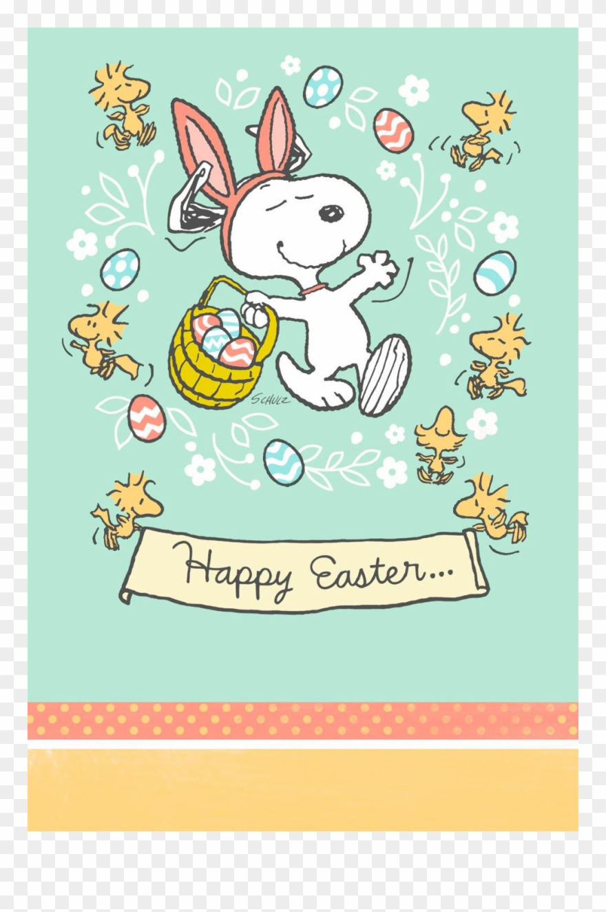 Peanuts It\'s The Easter Beagle Assorted Paper Kids Clipart.
