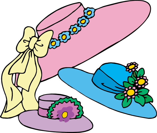 Easter Bonnets Clipart Free.