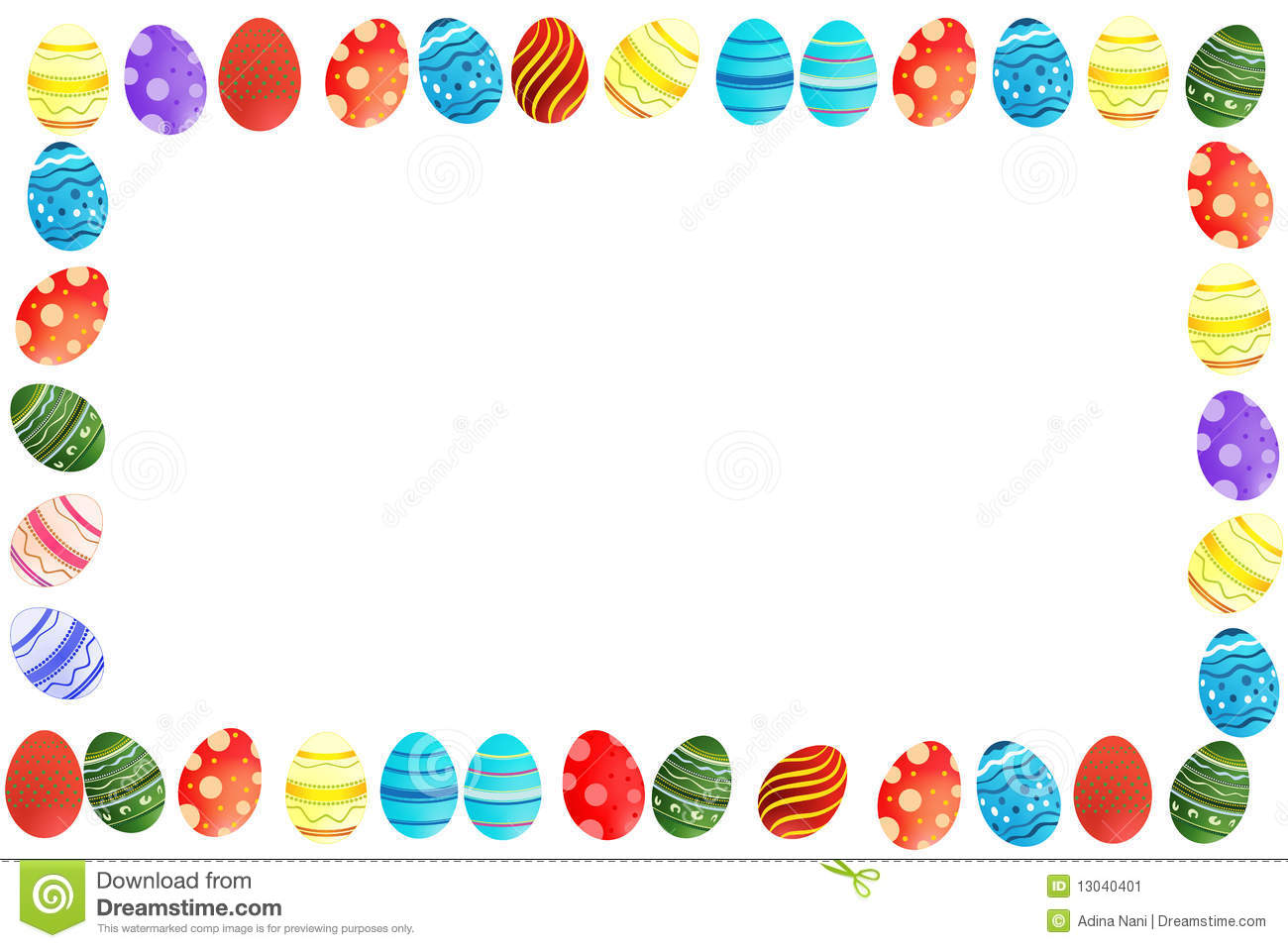 Easter border clipart 3 » Clipart Station.