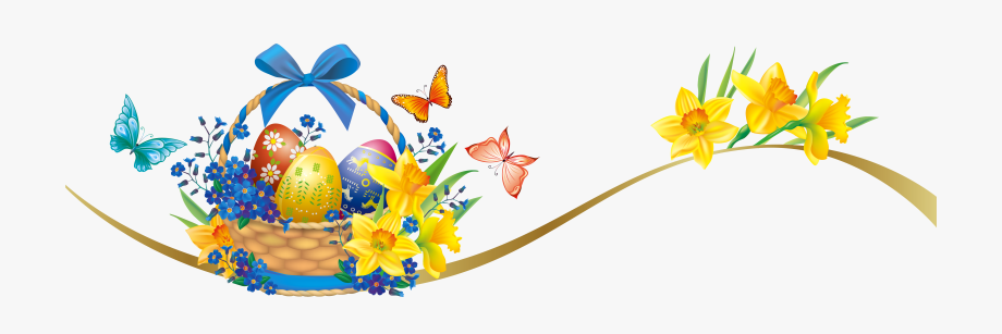 Easter Deco With Egg Basket Png Picture Ⓒ.