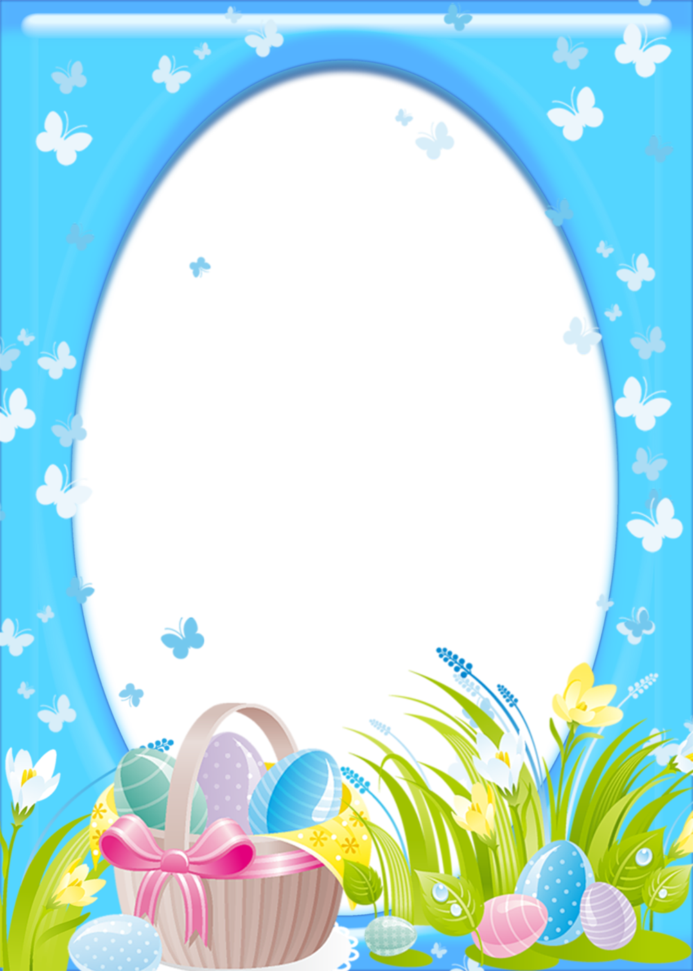 Easter Transparent PNG Frame.