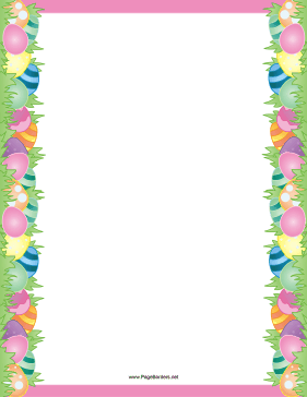 Easter Page Border.