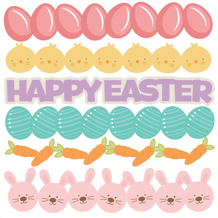 Easter Borders SVG cutting files easter egg svg cut file easter eggs.