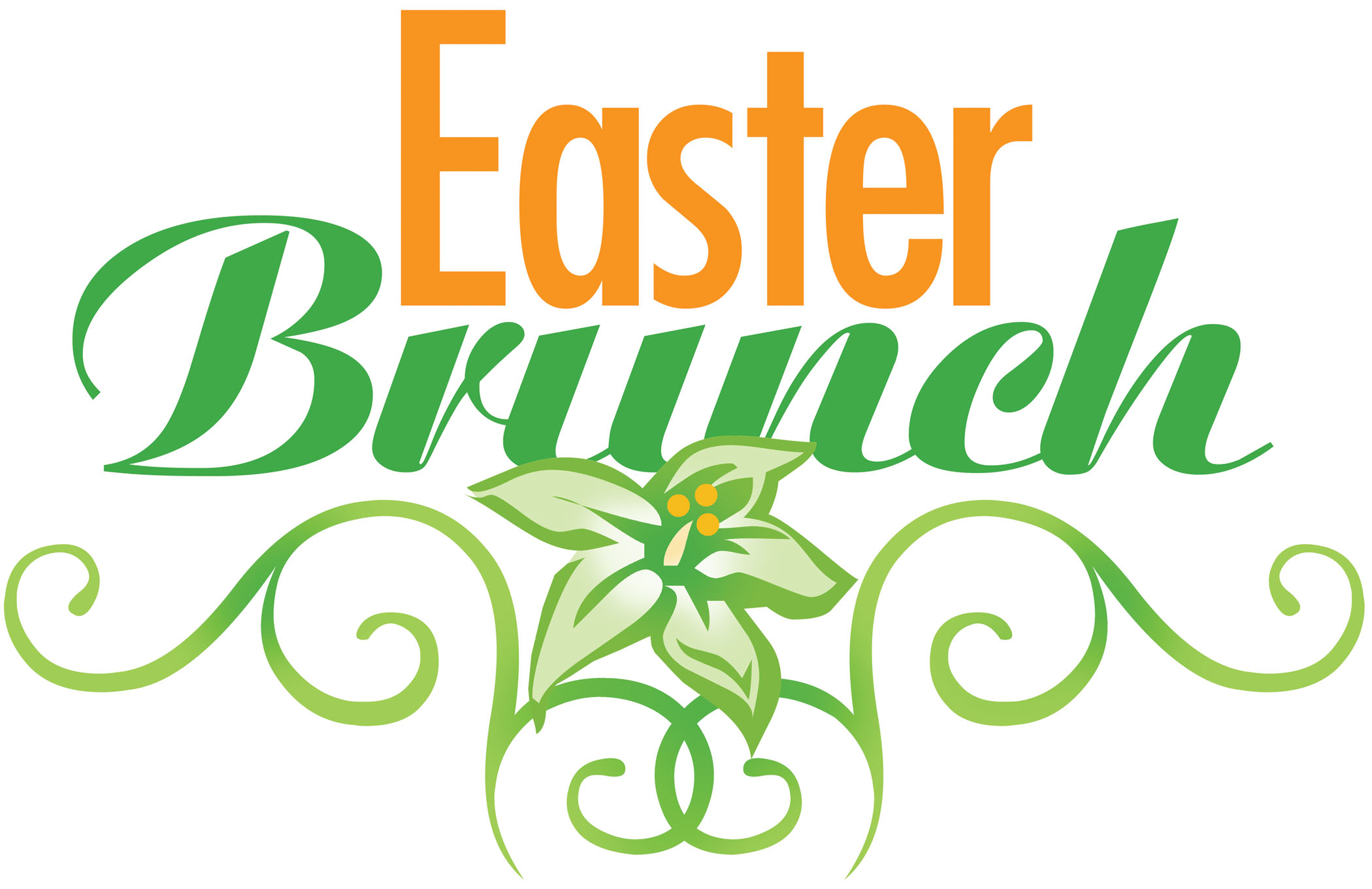 Easter Sunday Brunch Clip Art image in Vector cliparts.