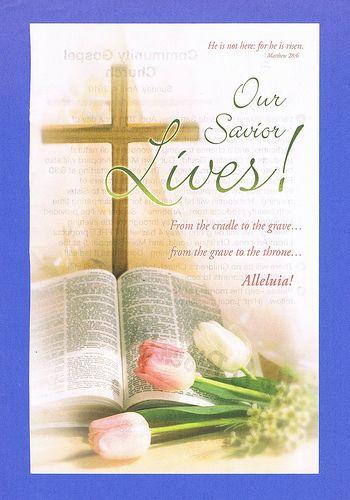 Easter Sunday 2010: church bulletin.