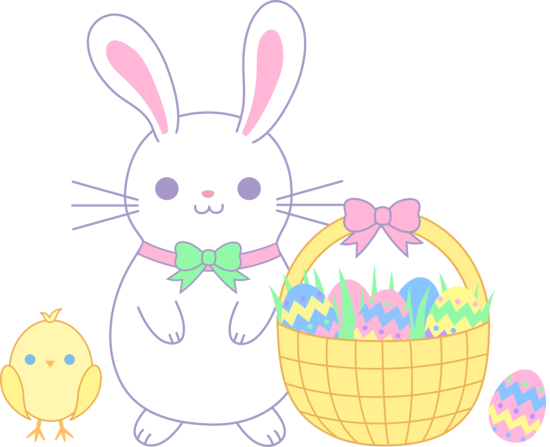 Bunny chick easter clipart.