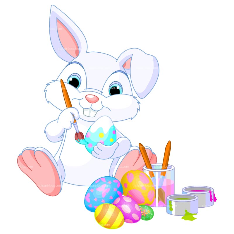 Easter Bunny And Basket Clipart.