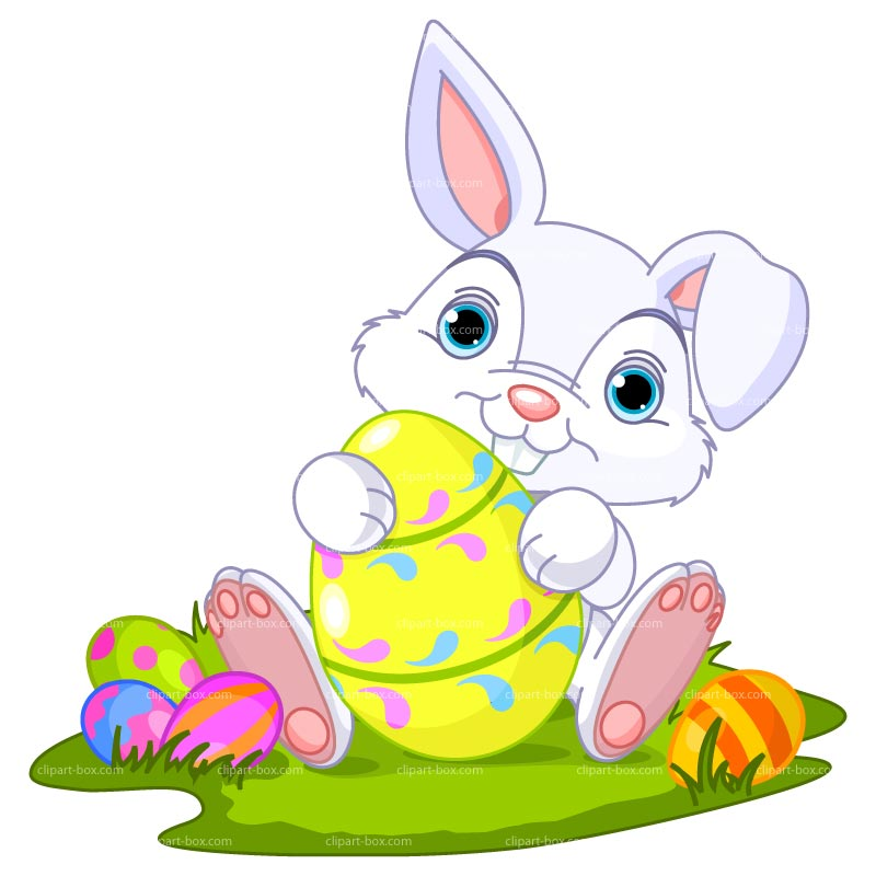 Cute Easter Bunny Clipart.