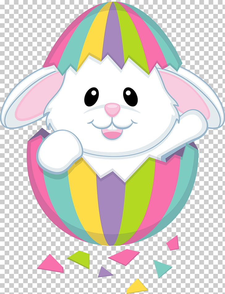 Easter Bunny Rabbit , cute chicks PNG clipart.