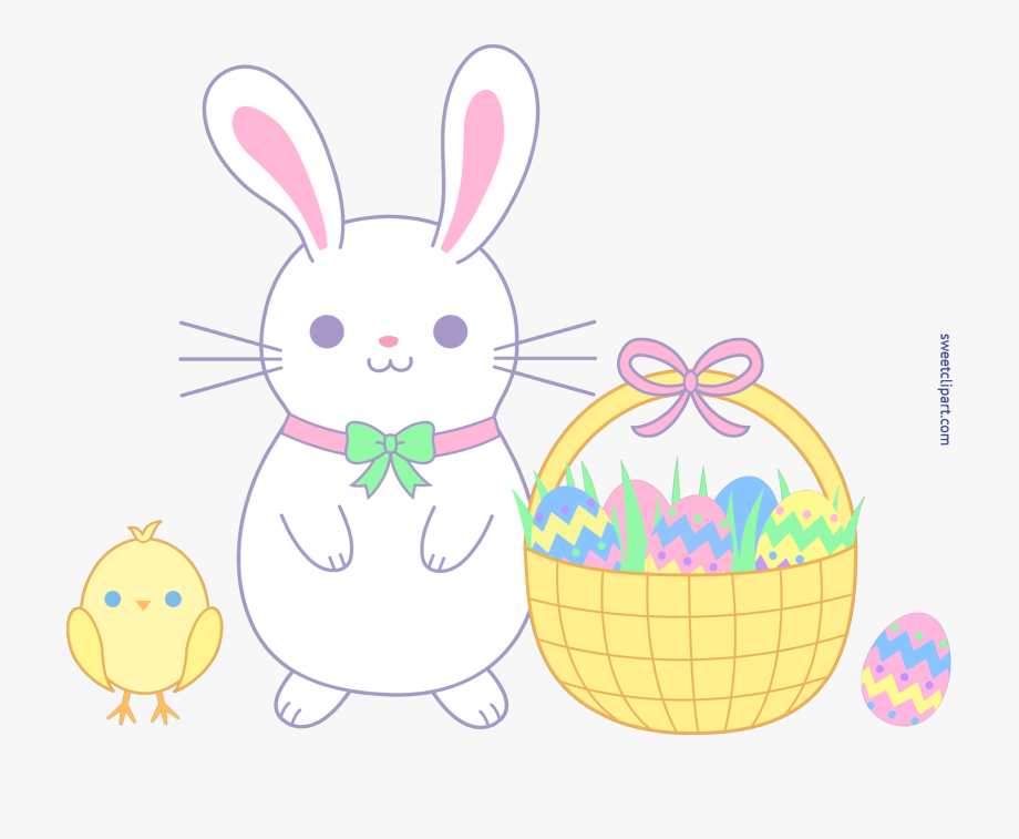 Cute Easter Bunny And Chick Clip Art, Cliparts & Cartoons.