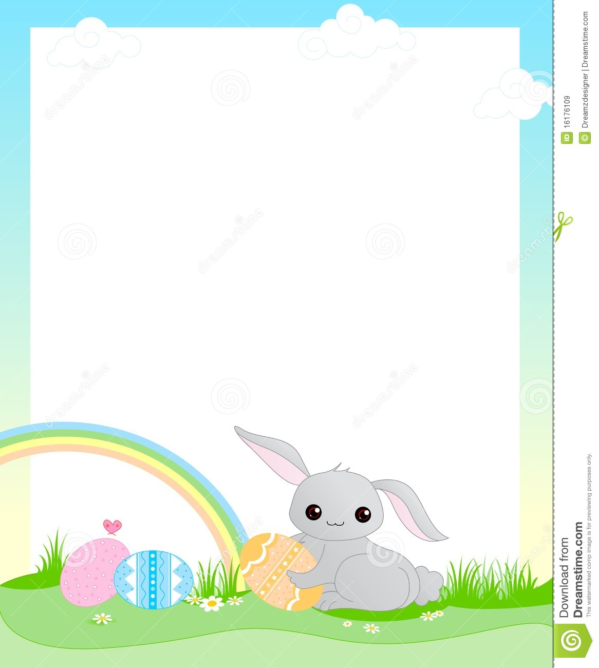Easter Bunny Border.