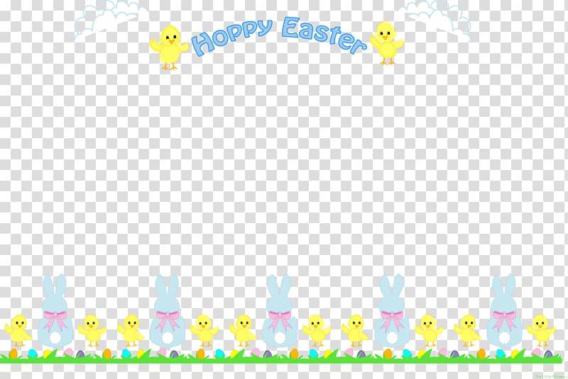 Easter Bunny Frames , easter border transparent background PNG.
