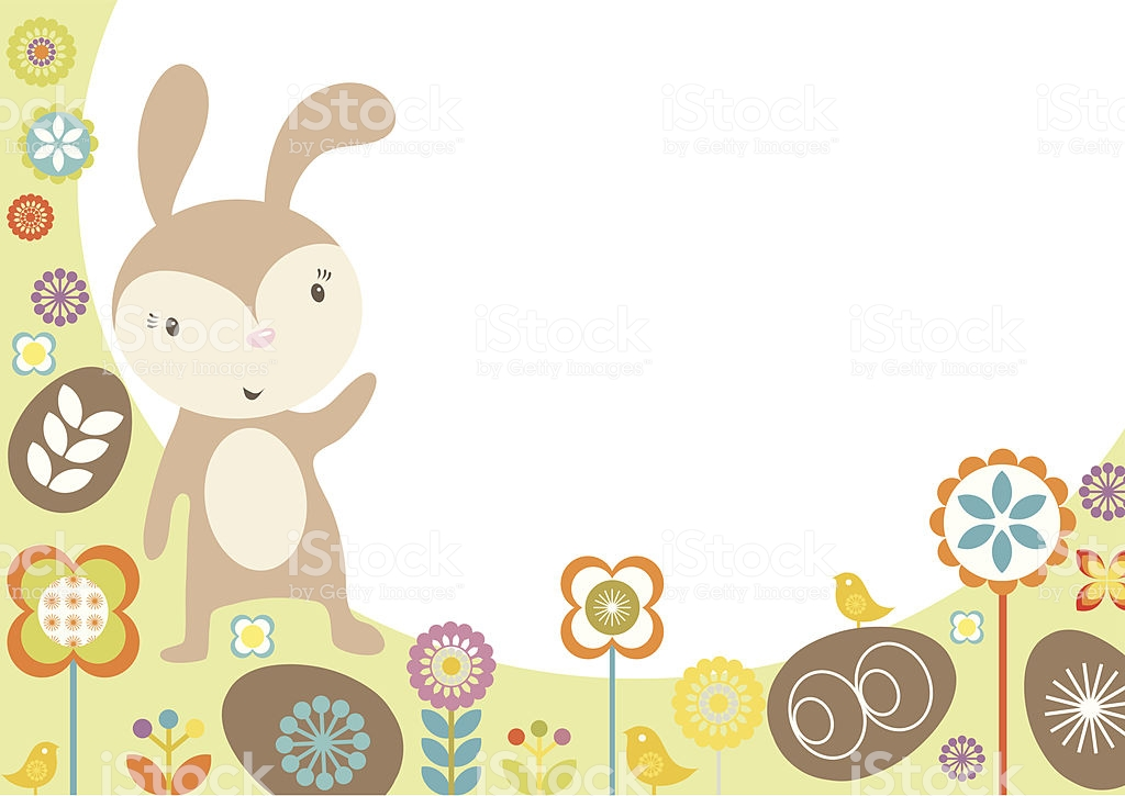 Easter Bunny Border Stock Vector Art & More Images of Animal.