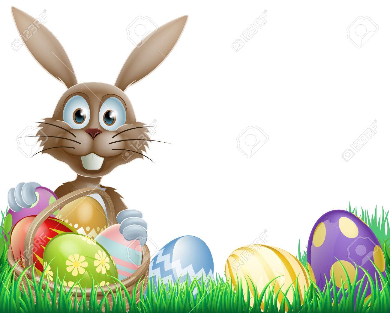 Easter Eggs Border.