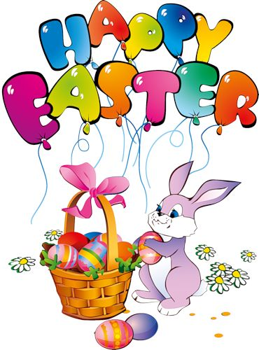 Happy Easter Bunny Clipart.