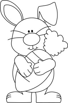 Easter bunny clipart black and white 5 » Clipart Station.