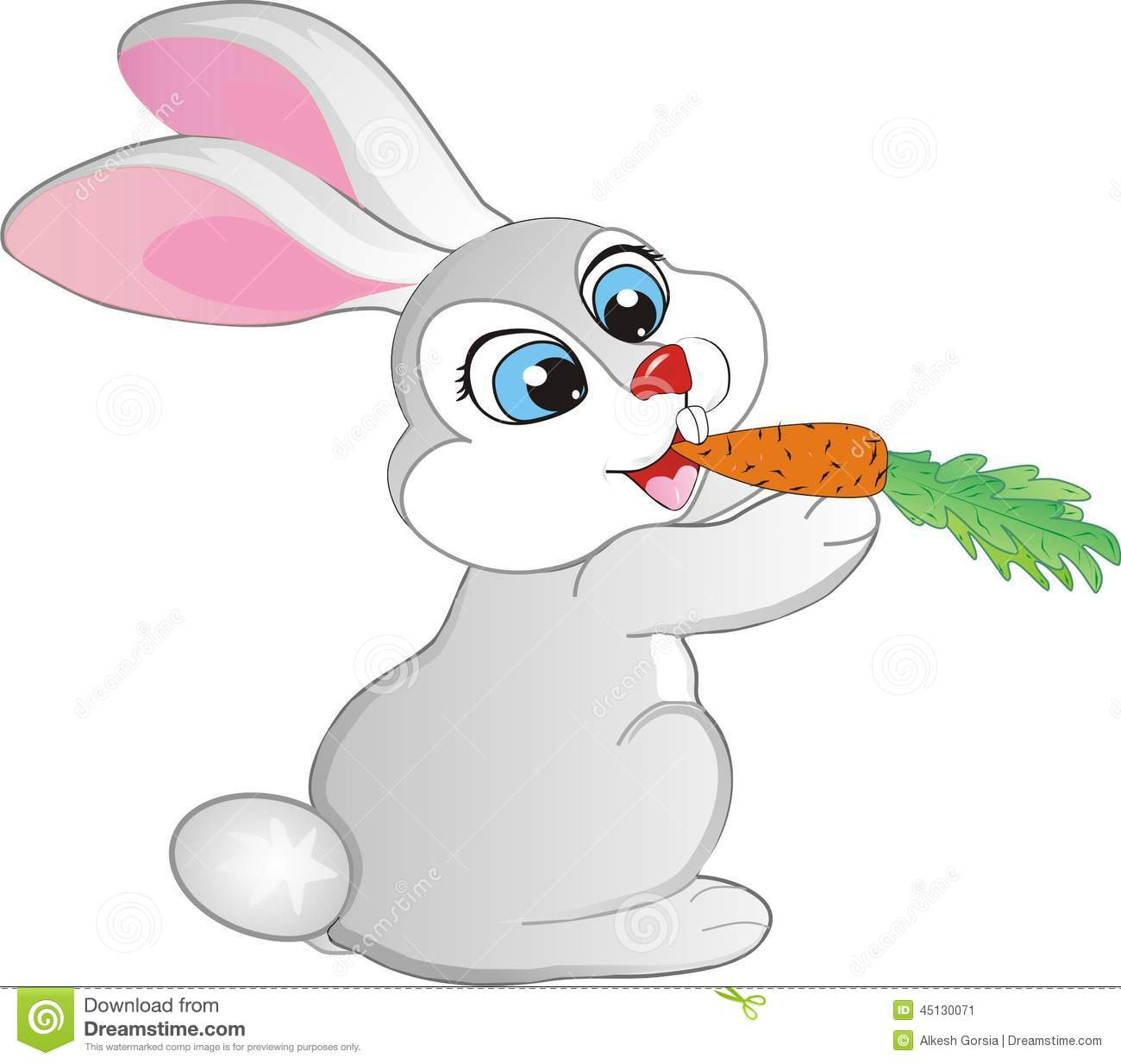 Bunny With Carrot Clipart.