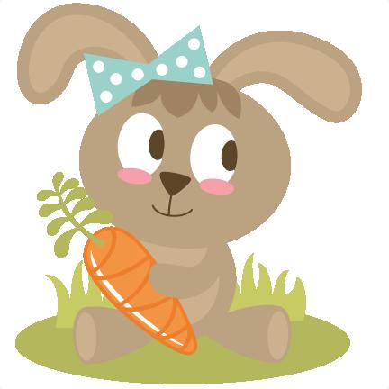 Easter Bunny Holding Carrot SVG files easter svg file bunny svg.