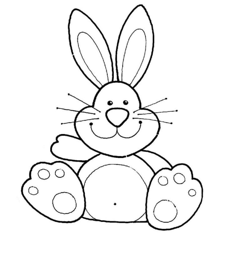 Bunny Clipart Outline.