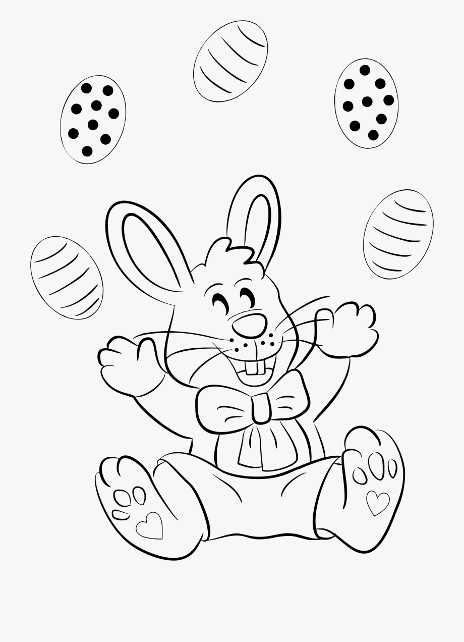 Easter Bunny Line Drawing At Getdrawings.
