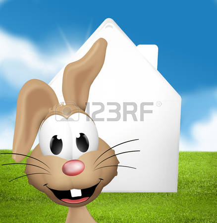 Bunny With Long Ears Stock Illustrations, Cliparts And Royalty.