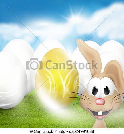 Stock Illustration of Easter sunny sky illustration graphic.