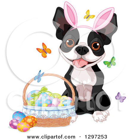 Easter Dogs Clipart.