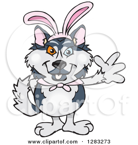 easter bunny dogs clipart #11