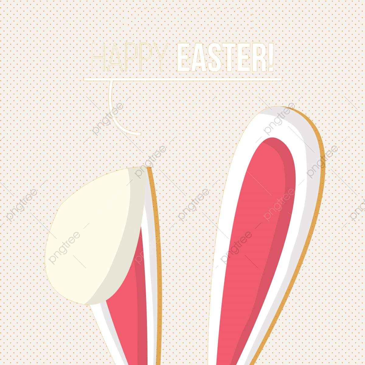 Happy Easter Bunny Ear, Easter, Happy, Happy Easter PNG Transparent.