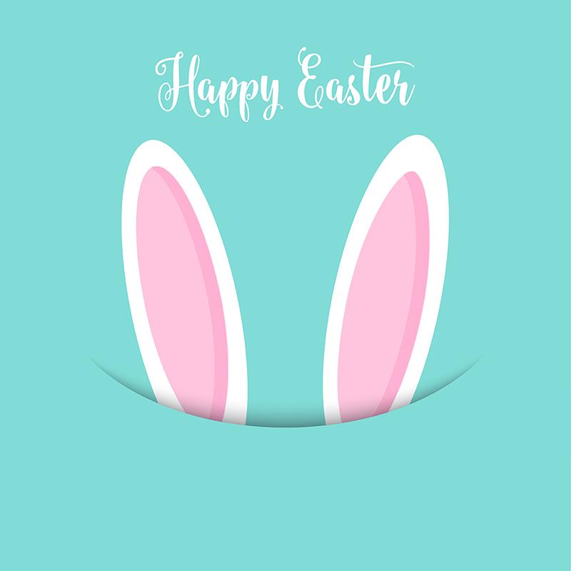 Easter Bunny Ears Background 2802, Easter Vector, Easter, Easter.