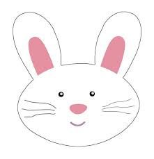 Easter Bunny Face Clipart.