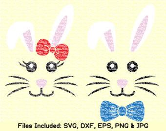 Bunny face svg.