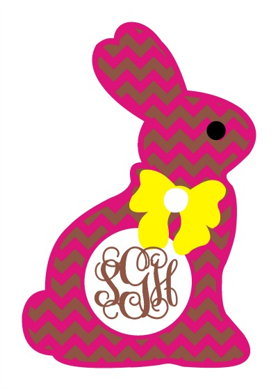Easter Bunny Face With Monogram Clipart 20 Free Cliparts