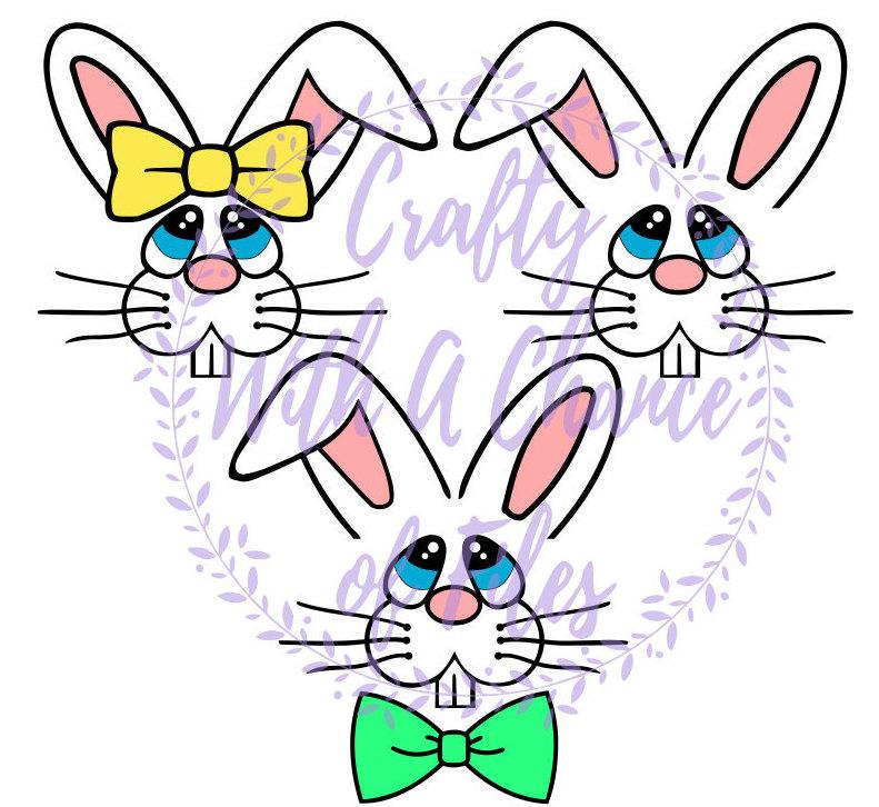 Easter Bunny Faces SVG, Bunny SVG, Easter SVG, Bunny Face Svg.