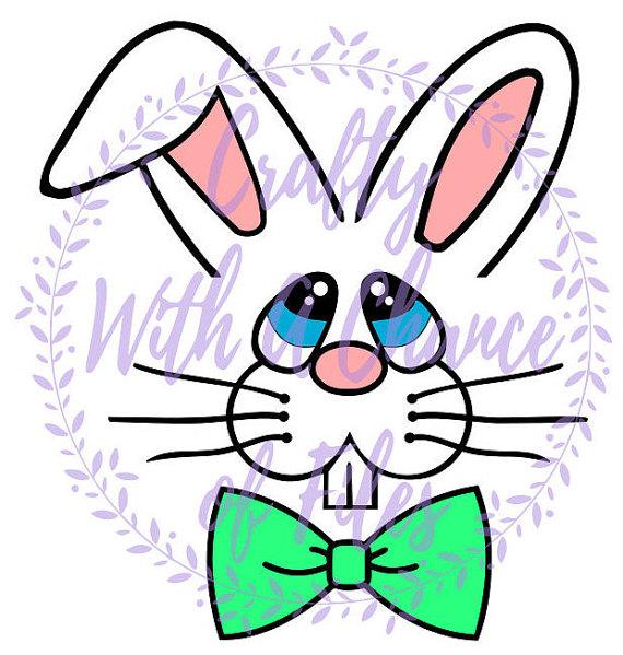 Easter Bunny Boy Face SVG, Bunny SVG, Easter SVG, Bunny Face Svg.