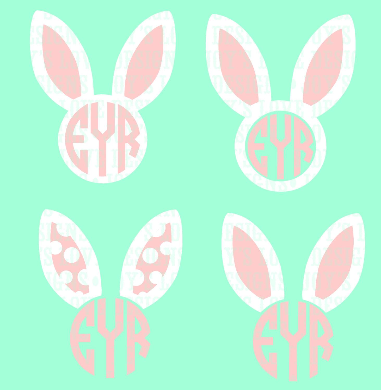 Bunny ears monogram.