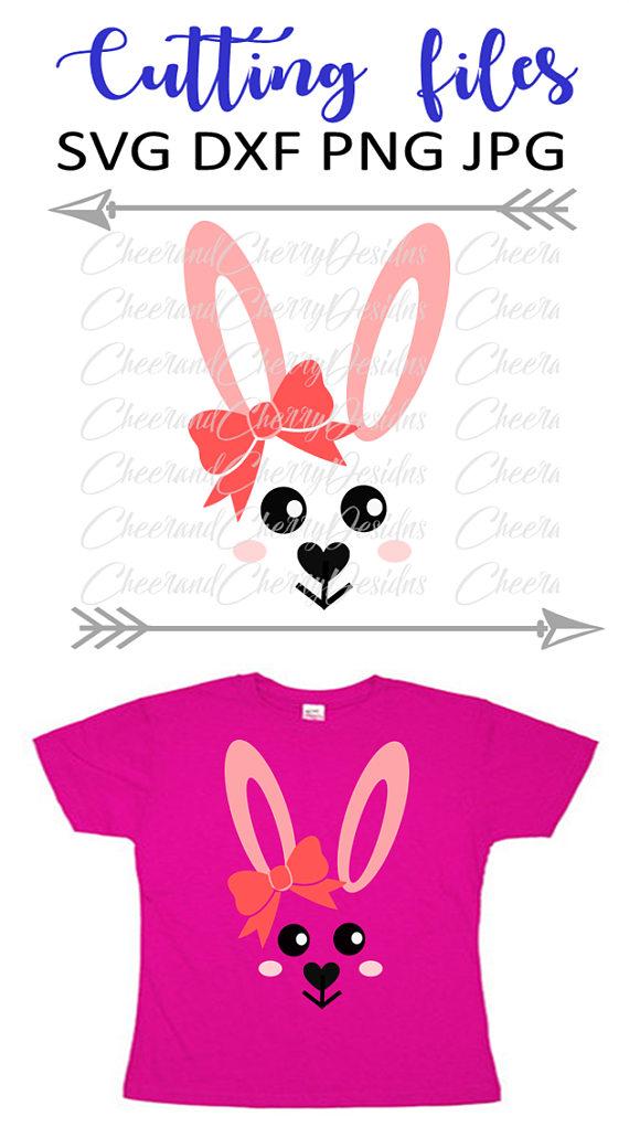 Bunny SVG Easter Monogram SVG Bunny face svg Rabbit svg Monogram.