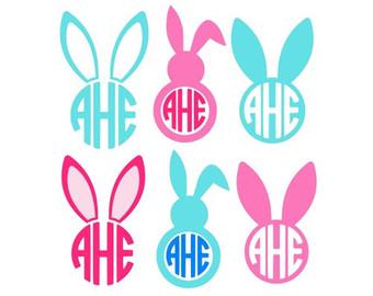 Easter Bunny Svg, Easter Svg, Easter Split Svg, Easter Monogram.