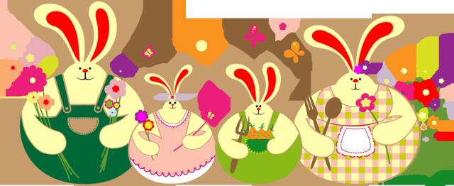 Bunny family clipart.