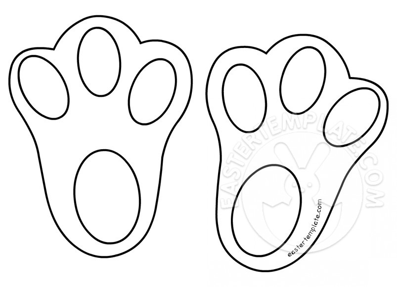 Printable Easter Bunny Feet.